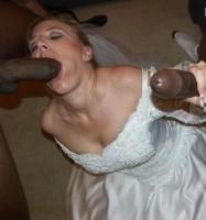 elle suce des blacks le jour de son mariage