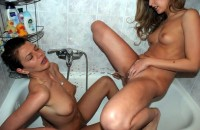 cute teen piss on milf